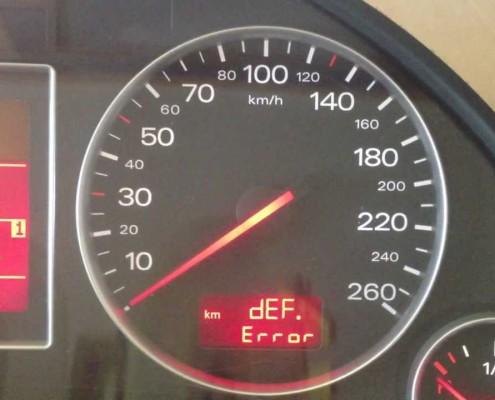 """rimozione automatica errore """"def""""su Audi A4"""